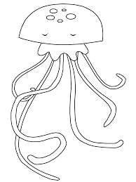 Small Picture Ocean Jellyfish Animals Coloring Pages Coloring Book