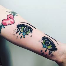 My Anime Eyes Tattoo Tattoos Tattoos Anime Tattoos Kawaii Tattoo