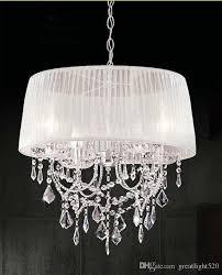 led chandelier lights. Modern K9 Crystal Chandelier Light With Fabric Shade Lampshade Led Ceiling Fashion Pendant #19 Wine Bottle Edison Bulb Lights I
