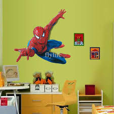 Manchester United Bedroom Wallpaper Spider Man Wall Stickers Cartoon Movie Character Decorative Wall