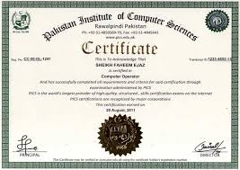 institute of computer sciences online certification  list of certificates diplomas our certified students