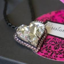 mother s day the pink pamper crystal heart pendant collection