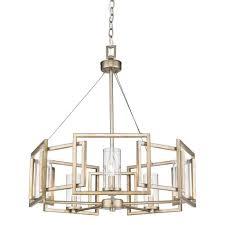 golden lighting chandelier. Golden Lighting 6068-5-WG Marco 5 Light Chandelier In White Gold With Clear