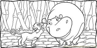 Small Picture Simba And Hippo Coloring Page Free The Lion King Coloring Pages