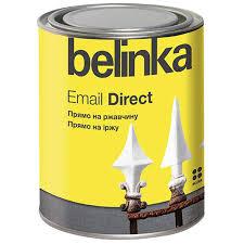 <b>Эмаль</b> по ржавчине <b>Belinka Email</b> Direct глянцевая серая 0,75 л ...