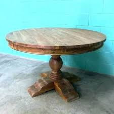 48 inch round wood pedestal dining table reclaimed solid kitchen