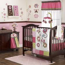 image of baby girls crib bedding