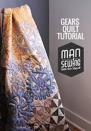 Gears Quilt – Man Sewing & gears quilt Adamdwight.com