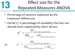 effect size anova chapter 13 repeated measures and two factor analysis of variance