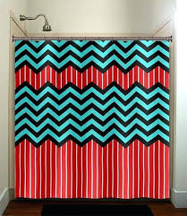 teal blue shower curtain red stripe aqua blue chevron shower curtain bathroom decor fabric kids bath teal blue shower curtain