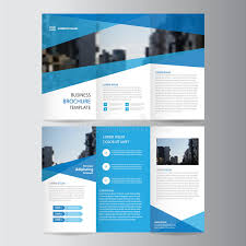 brochure template blue business trifold leaflet brochure flyer template design book