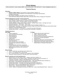 Musical Theatre Resume Music Resume Example Musician Best And CV Template Vasgroupco 59