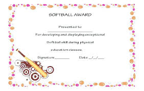 Free Printable Softball Certificates Sports Club Softball Website Templates Free Template Monster Best
