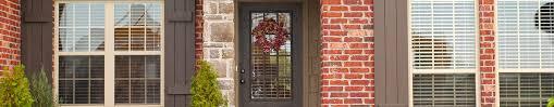 brick house with glass door