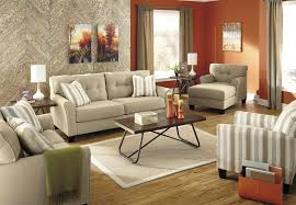 Living Room Sets With Accent Chairs Accent Chair With Neutral Stripe Fabric By Benchcraft Wolf And