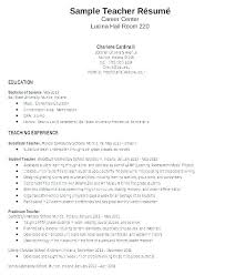 Resume Format For A Teacher Resume Format Examples Freshers Best For ...