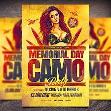 Flyers Theme Memorial Day Camo Theme Party Flyer Sickflyers Com