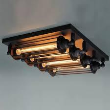 ceiling industrial lighting fixtures industrial lighting. 4-light Black Industrial LOFT Punk Steam Wall Washer Ceiling Lighting Fixtures