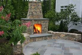 Great Fireplace And Patio Residence Decorating Ideas Images
