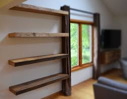 floating wooden wall shelves rustic floating shelves beautiful shelf at narrow room rustic wood