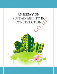 sustainability in construction essay sample