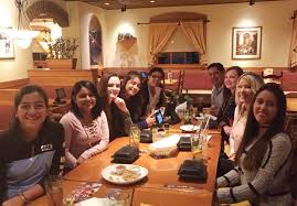 our dining room servers jettisoned off to the olive garden for their annual dinner celebration how refreshing to be on the receiving end of great dining