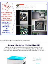 Hộp Android Tivi Box LENOVO MINISTATION VXC10 dành cho Game thủ- + Tặng  Chuột Bay KM800