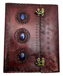 all gone three stone embossed leather journal