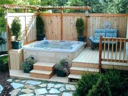 privacy screen for hot tub stunning garden designs tubs and patio enclosures uk around a fence
