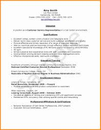 Sample Resume For Call Center Sample Resume Call Center Representative New Call Center 29