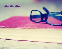 Glasses Quotes Custom Write Quote On Black Glasses Book Picture