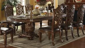 vendome traditional formal double pedestal 85 121 dining table in cherry