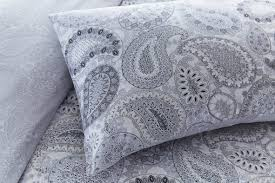 pieridae paisley duvet quilt bedding cover and pillowcase grey bedding set reversible paisley duvet cover set bedding small double king size inject colour