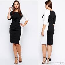 professional clothing 2019 women work dresses black and white professional clothing 3 4