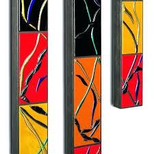 long narrow horizontal wall art abstract fused glass made tall c