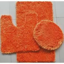 Bright Orange Bath Rug Sets With 3 Shaped Ideas  Direct Divide