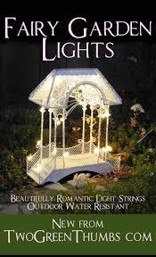 outdoor fairy lighting. light up your miniature garden with festive outdoor mini fairy lights lighting y