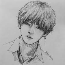 (the process will be shown at the end of the blog and also individual description will be provided with each photo) Arranged Marriage Taekook 9 Bts Drawings Drawings Cool Drawings