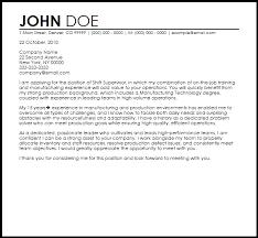 cover letter for manufacturing jobs free shift supervisor cover letter templates coverletternow