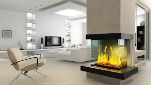 Living Room:Modern Living Room Design With Clean Fireplace And White Low  Sofa Modern Glass