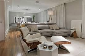 Living Room Apartment Apartment Living Room Ideas Modern Rug Soft Brown Fabric Riclining
