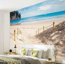 Decorating: Beach Photo Mural In Bedroom - Photo Walls