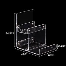 Acrylic Tiered Display Stands Wholesale 100pcs Clear Acrylic Wallet Mobile Phone Display Stand 42