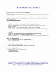 Call Center Agent Job Description For Resume 100 Inspirational Stock Of Resume format for Call Center Job 1