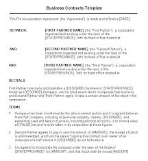 Agreement Templates Business Contract Template Business Contract Template Downloadable Sample Of With Three Parties