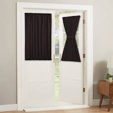 How To Block Light Around A Door Pony Dance Door Curtains Short Rod Pocket Blackout Sliding Glass Door Curtain Panels Window Treatments Light Block Privacy Protect 54 X 40 Inches