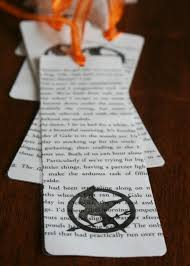 bookmark made from a book page
