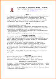 Handyman Resume Samples Sample In X Business Contracts Wedding