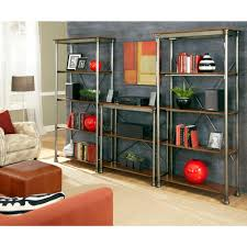 wooden bookcase furniture storage shelves shelving unit. Home Styles 13-Shelf 114 In. W X 76 H 16 Wooden Bookcase Furniture Storage Shelves Shelving Unit I