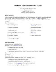 Best Simple Career Internship Resume Sample Featuring Marketing